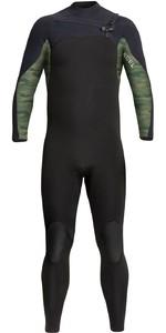 2021 Xcel Mens Phoenix 4/3mm Chest Zip Wetsuit MN43GBX0B - Black / Green Camo