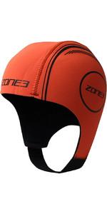 2021 Zone3 Neoprene Swimming Cap NA18UNSC1 - Orange
