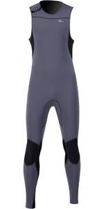2021 Prolimit Mens Zodiac Velcro Closure 1.5mm SUP Long John Wetsuit 14460 - Slate / Black