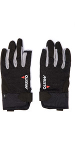 2020 Musto Essential Sailing 3 Finger Gloves AUGL002 - Black