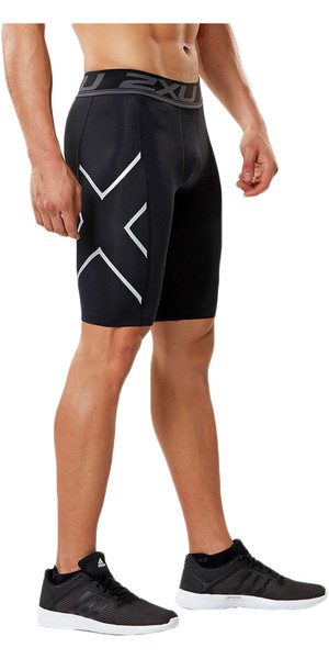 2018 2XU Accelerate Compression Shorts BLACK MA4478b