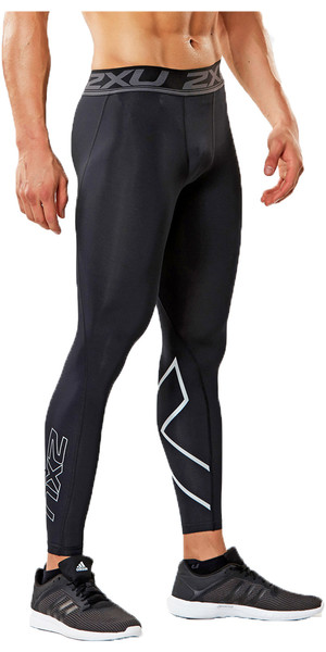 2018 2XU Accelerate Compression Tights BLACK MA4476b