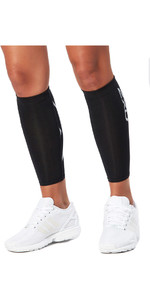 2018 2XU Compression Calf Guards BLACK UA1987b