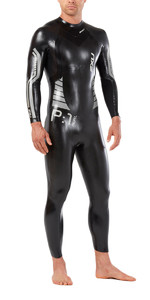 2019 2XU P:1 Propel Triathlon Wetsuit BLACK / SILVER MW4991c