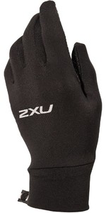 2021 2XU Run Glove UQ5340h - Black / Silver