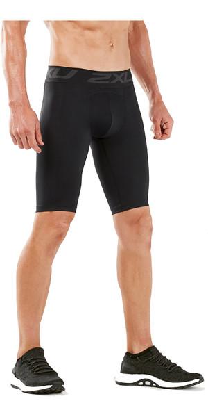 2019 2XU Mens Accelerate Comp Shorts Black / Silver MA5407b