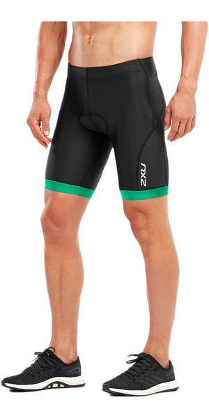 2018 2XU Active Tri Shorts BLACK / JOLLY GREEN MT4864b