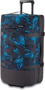2020 Dakine Split Roller EQ 100L Wheeled Bag 10002944 - Cyan Scribble