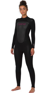 2020 Animal Womens Lava 4/3mm Back Zip Wetsuit AW0SS301 - Black