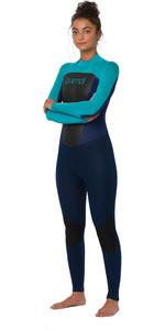 2020 Animal Womens Lava 4/3mm Back Zip Wetsuit AW0SS301 - Dark Navy