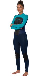 2020 Animal Womens Lava 4/3mm Back Zip Wetsuit AW0SS301 - Dark Navy