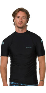 2020 Animal Mens Loet Short Sleeved Rash Vest CL0SS010 - Black