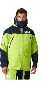 2021 Helly Hansen Mens Skagen Offshore Sailing Jacket 33907 - Azid Lime