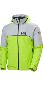 2021 Helly Hansen Mens HP Foil Light Sailing Jacket 34151 - Azid Lime