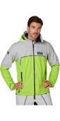 2020 Helly Hansen Mens HP Foil Light Sailing Jacket 34151 - Azid Lime