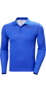 2021 Helly Hansen Mens Lifa Active Solen Long Sleeve Polo 49351 - Royal Blue