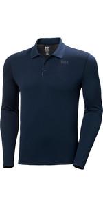 2020 Helly Hansen Mens Lifa Active Solen Long Sleeve Polo 49351 - Navy