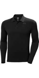 2020 Helly Hansen Mens Lifa Active Solen Long Sleeve Polo 49351 - Ebony