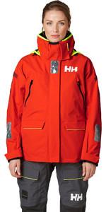 2020 Helly Hansen Womens Skagen Offshore Sailing Jacket 33920 - Cherry Tomato