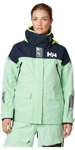 2020 Helly Hansen Womens Skagen Offshore Sailing Jacket 33920 - Reef Green