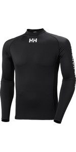 2021 Helly Hansen Mens Long Sleeve Rash Vest 34023 - Black