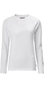 2020 Musto Womens Evolution Long Sleeve Sunblock Tee 2.0 81162 - White