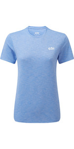 2021 Gill Womens Holcombe Crew Short Sleeve Base Layer 1103W - Sky Blue
