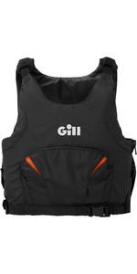 2021 Gill Junior Pro Racer Side Zip 50N Buoyancy Aid 4916J - Black / Orange