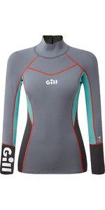 2020 Gill Womens Zenlite 1.5mm Flatlock Neoprene Top 5003W - Steel Grey