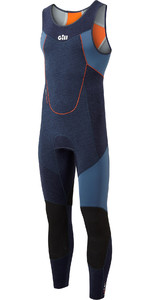 2020 Gill Junior Race Firecell 3.5mm Neoprene Skiff Suit RS16 - Dark Denim / Orange