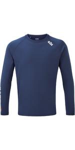 2021 Gill Mens Race Long Sleeve Tee RS37 - Dark Blue