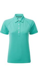 2021 Gill Womens UV Tec Polo Top UV008W - Turquoise
