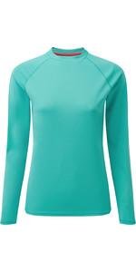 2020 Gill Womens Long Sleeve UV Tec Tee UV011W - Turquoise