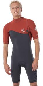 2020 Rip Curl Mens E-Bomb 2mm Zipperless Shorty Wetsuit WSP8NE - Terracotta