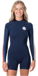 2020 Rip Curl Womens Dawn Patrol 2mm Long Sleeve Shorty Wetsuit WSP8GW - Stripe