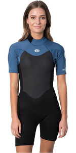 2020 Rip Curl Womens Omega 1.5mm Back Zip Spring Shorty Wetsuit WSP9QW - Blue