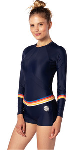 2020 Rip Curl Womens Boyleg Long Sleeve UV Surf Suit WLY6KW - Stripe