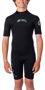 2020 Rip Curl Junior Boys Dawn Patrol 2mm Back Zip Shorty Wetsuit WSP8EJ - Black