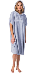 2020 Rip Curl Womens Essentials Hooded Change Robe Poncho GTWAQ1 - Light Blue