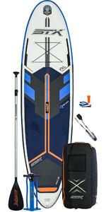 2021 STX Freeride Windsurf 10'6 Inflatable Stand Up Paddle Board Package - Board, Bag, Paddle, Pump & Leash - Blue / Orange