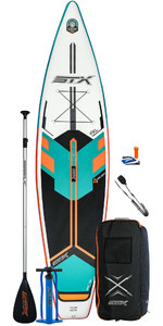 2020 STX Touring Windsurf 11'6 Inflatable Stand Up Paddle Board Package - Board, Bag, Paddle, Pump & Leash - Mint / Orange