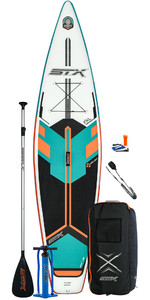 2021 STX Touring 11'6 Inflatable Stand Up Paddle Board Package - Board, Bag, Paddle, Pump & Leash - Mint / Orange