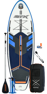 2021 STX Junior 8'0 Inflatable Stand Up Paddle Board Package - Board, Bag, Paddle, Pump & Leash - Blue / Orange