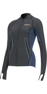 2020 Prolimit Womens 1.5 Neoprene Loosefit SUP Top 84710 - Slate / Orange