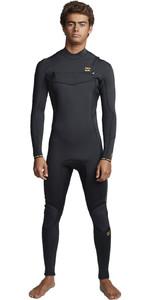 2020 Billabong Mens Furnace Absolute 3/2mm Chest Zip Wetsuit S43M54 - Antique Black