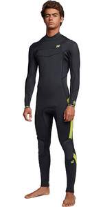 2020 Billabong Mens Furnace Absolute 5/4mm Chest Zip Wetsuit S45M51 - Lime