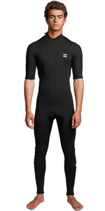 2020 Billabong Mens Absolute 2mm Back Zip Short Sleeve Wetsuit S42M69 - Black