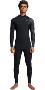 2020 Billabong Mens Furnace Comp 3/2mm Chest Zip Wetsuit S43M50 - Black Camo