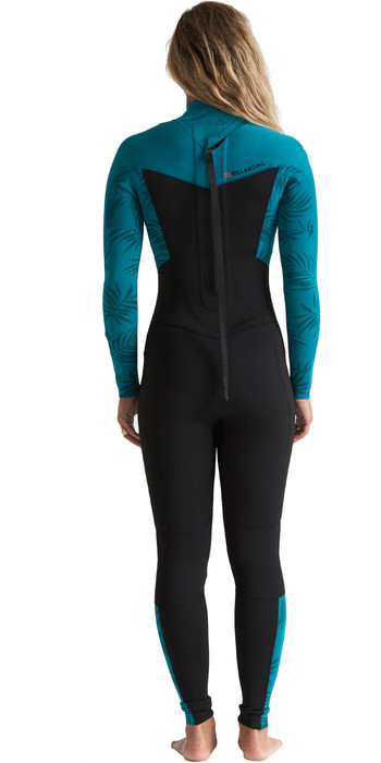 2020 Billabong Womens Synergy 3/2mm Back Zip Flatlock Wetsuit S43G54 - Mermaid