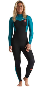 2020 Billabong Womens Furnace Synergy 4/3mm Back Zip Wetsuit S44G53 - Mermaid